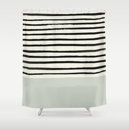 Coastal Breeze x Stripes Shower Curtain