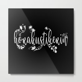 hearing aid acoustician lovers gift idea design Metal Print