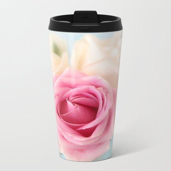 pastel roses Metal Travel Mug