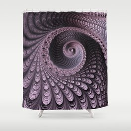 Curves and Folds Shower Curtain