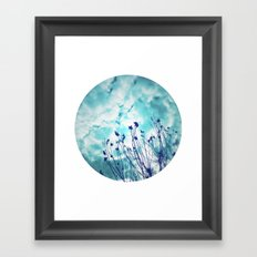 Branches and Cloudy Sky Framed Art Print