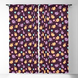 Freely Birds Flying - Fly Away Version 2 - Wine Color Blackout Curtain