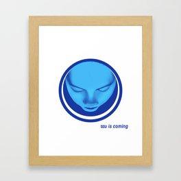 tau is coming Framed Art Print