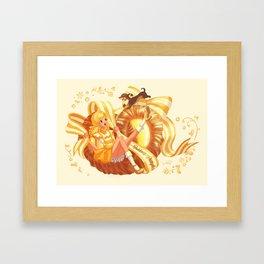 Scandi Sweets - Pudding Pretzel Framed Art Print