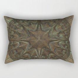 Antique Faux Bronze Style Pattern Rectangular Pillow