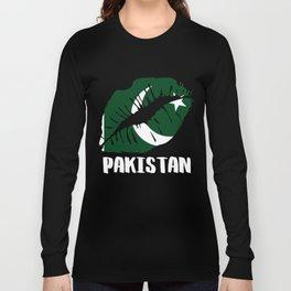 PAK Pakistan Kiss Lips Tshirt Long Sleeve T-shirt