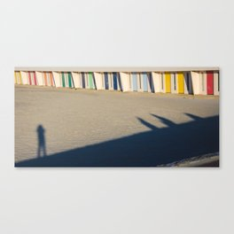beach cabins Touquet Canvas Print