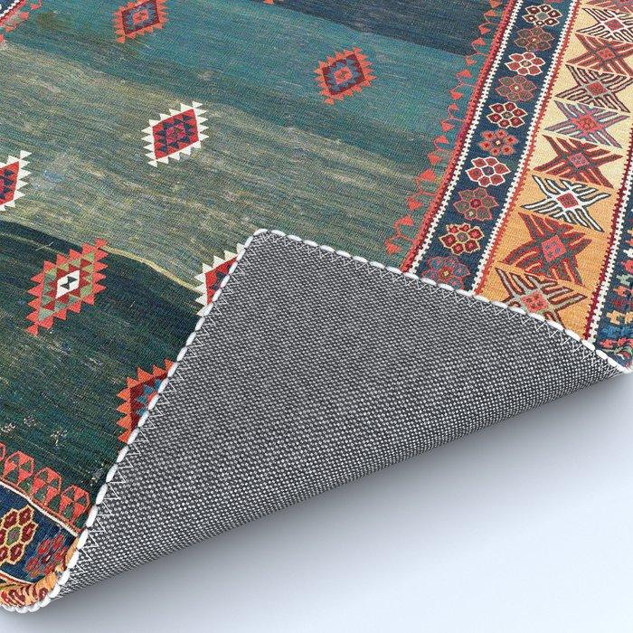 Sivas Antique Turkish Niche Kilim Print Rug