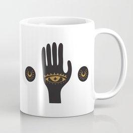 Black Third Eye Palm Coffee Mug