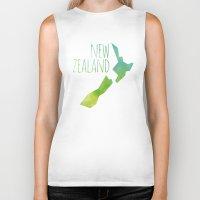 new zealand Biker Tanks featuring New Zealand by Stephanie Wittenburg