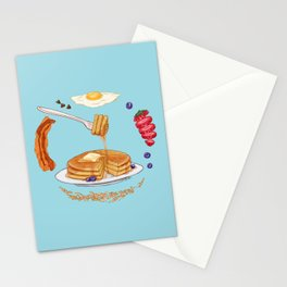 Pancake Mandala Stationery Cards