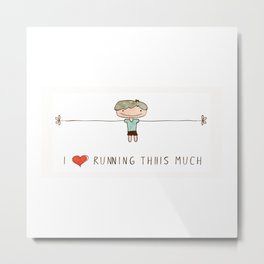 I love running boy Metal Print