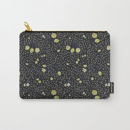 Charcoal Strawberry Carry-All Pouch