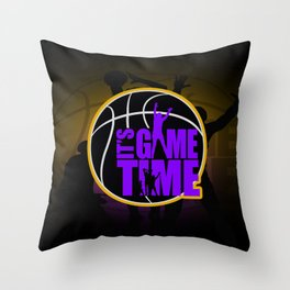 It's Game Time - Purple & Gold Throw Pillow