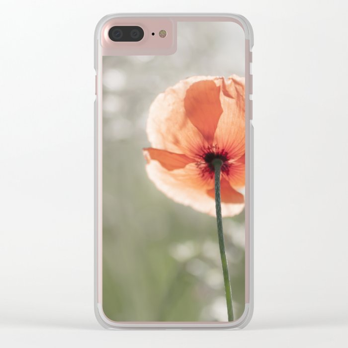 Poppy at backlight - Poppies Blossom Flower Floral Clear iPhone Case
