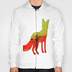 Textured abstract in green and orange Hoody