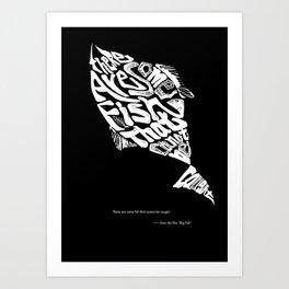 calligram poster Art Print