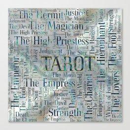 Tarot Major Arcana Word Art  on Pearl Canvas Print