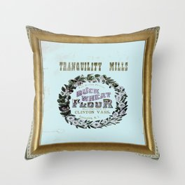 flour power: tranquility mills Throw Pillow