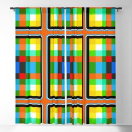 Color Bars & Squares 4 Blackout Curtain
