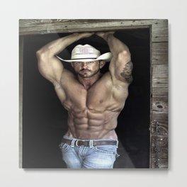 Hot Shirtless Cowboy ( Brad Paisley Look-alike) Metal Print