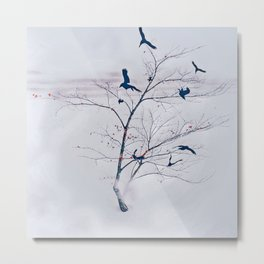 WHITEOUT/light grey Metal Print
