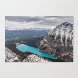 Lake Louise from above. Canvas Print