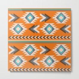 Tribal ethnic geometry Metal Print