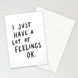 Feelings White Stationery Cards