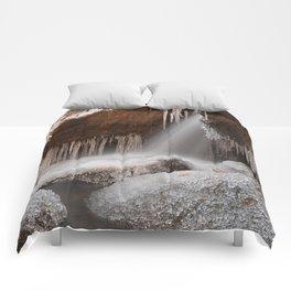 Stream of Frozen Hope Comforters