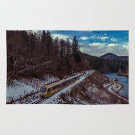 Alpine railway Rug