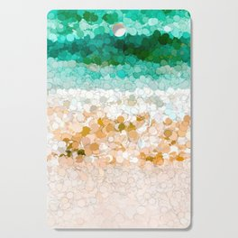 On the beach abstract painting Cutting Board