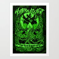 Haters Repent (Green Version) Art Print