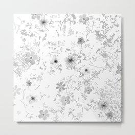 Festive watercolor flowers 9 Metal Print