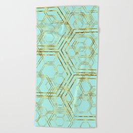 Hexagold Beach Towel