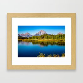 Oxbow Bend - Mt Moran in the Grand Tetons Framed Art Print