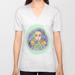 Saturn Girl Unisex V-Neck