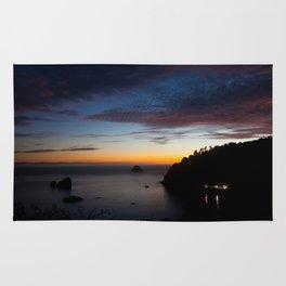 Late Sunset Over Trinidad Harbor Rug