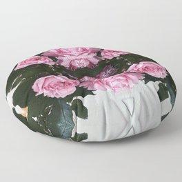 Rorschach Roses Floor Pillow