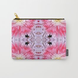 Rose Pink White Flower Blossoms Dahlias Carry-All Pouch