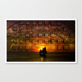 city of key west sunset Canvas Print