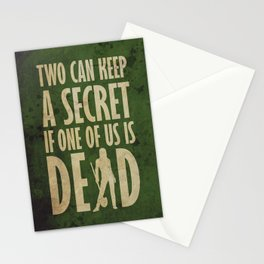 Can you keep a secret? (GREEN) Stationery Cards