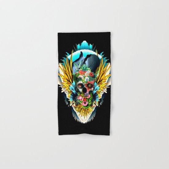 Floral Skull Vivid II Hand & Bath Towel