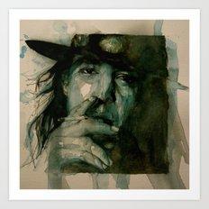 Stevie Ray Vaughan Art Print
