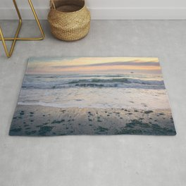 Pacific Waves at Sunset Rug