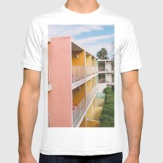Palm Springs Vibes II MEDIUM Mens Fitted Tee White