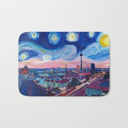 Starry Night in Berlin - Van Gogh Inspirations in Germany with Skyline Bath Mat
