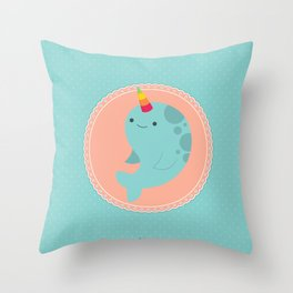 Narwhal Throw Pillow
