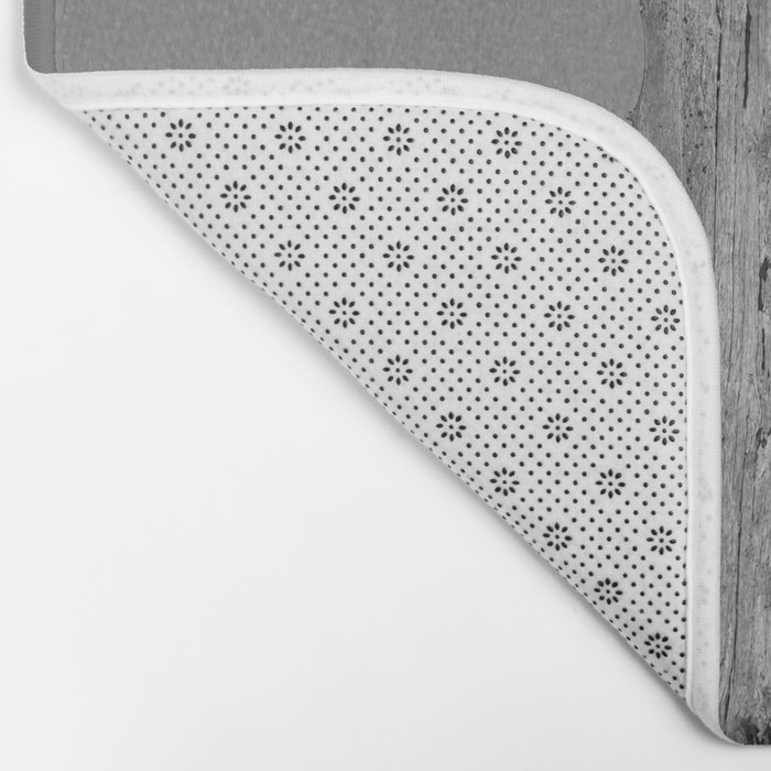 Perched With A View Duo - B & W Bath Mat