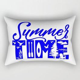 Summer TIME at the Lake Blue Rectangular Pillow